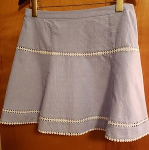 NWT White House Black Market chambray skirt size 8